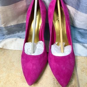 Sole Society Pink Suede Pumps Size 8